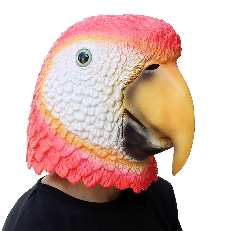 PartyCostume Máscara de Cabeza Humana de Fiesta de Traje Lujo de Halloween Loro Parrot: Amazon.es: Juguetes y juegos