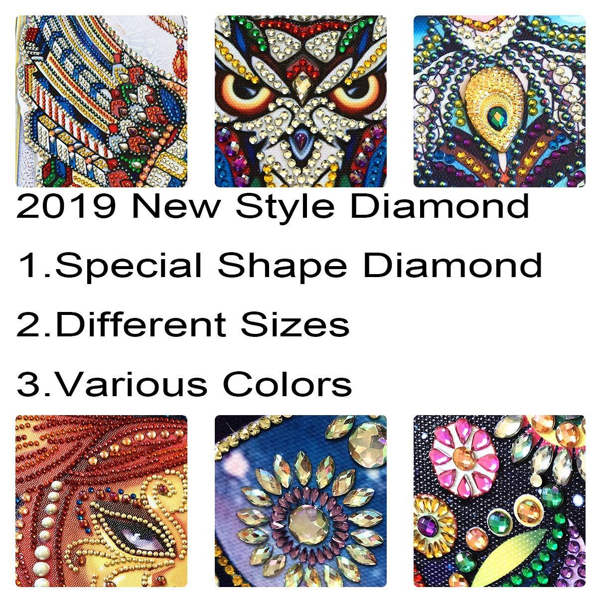 kit per ricamo a punto croce Spring Kit per pittura a mosaico 5D fai da te con perline rotonde per adulti bellezza 40 x 30 cm