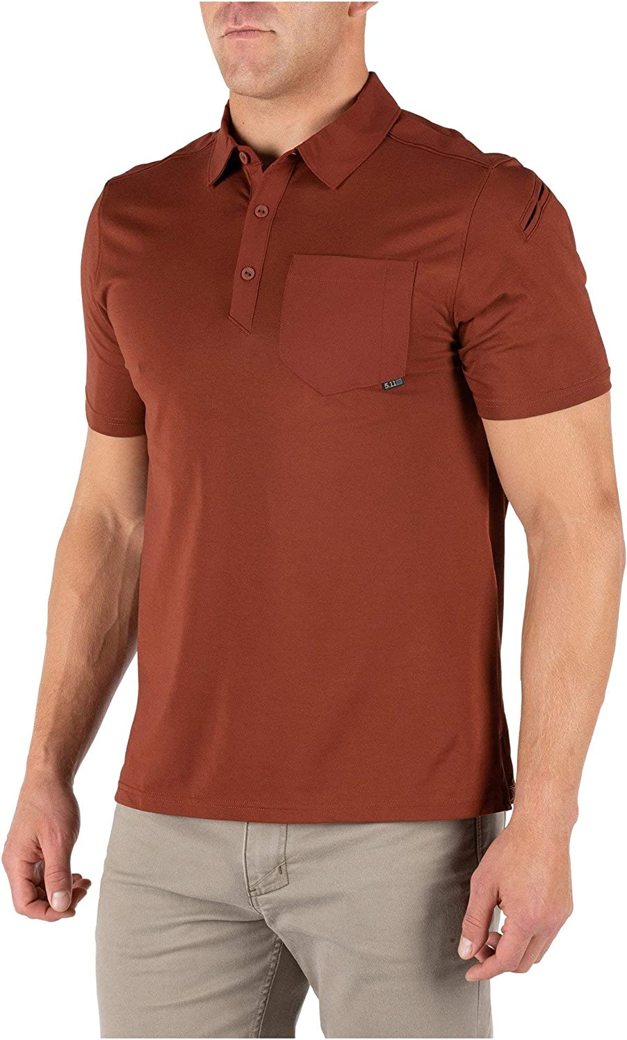 Style 41219 Abrasion-Resistant 5.11 Tactical Mens Axis Short Sleeve Shirt Polo