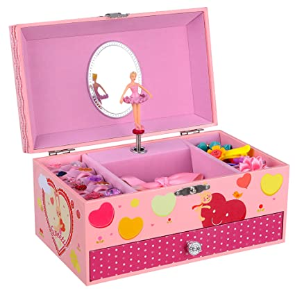 Amazoncom SONGMICS Ballerina Music Jewelry Box for Little Girls
