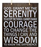 JennyGems - Serenity Prayer Wood Sign - Rustic Wall Hanging Sign - Serenity Motivational Wood Plaque Signs - Serenity…