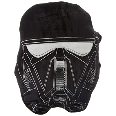 Jay Franco Star Wars Rogue One Death Trooper Face Pillow, Black: Home & Kitchen