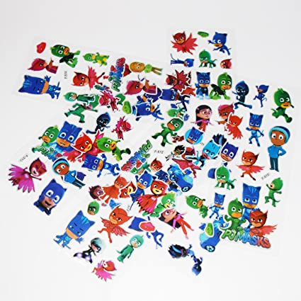 Party Hive Over 80 PJ Mask 3D Puffy Raised Decorative Stickers - Arts & Crafts,