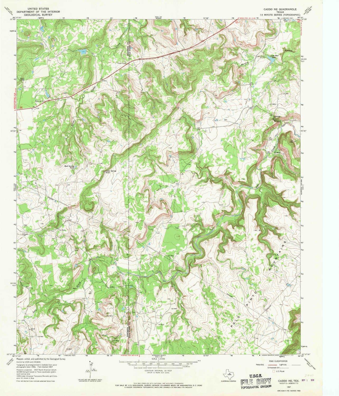 Amazon Com Yellowmaps Caddo Ne Tx Topo Map 1 24000 Scale