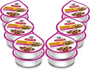 Hill's Science Diet Wet Dog Food, Adult, Small Paws for Small Breeds, Savory Stew Chicken & Vegetables, 3.5 oz Trays, 12-Pack