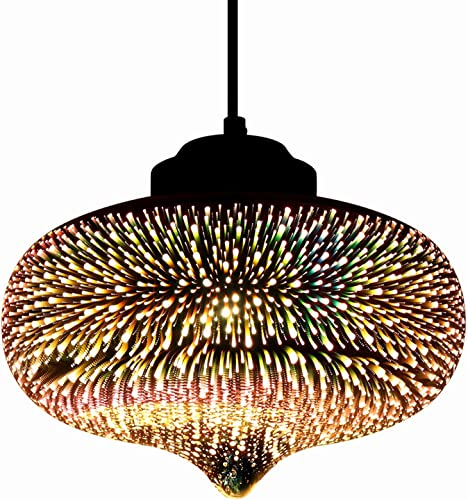 JEUNEU Modern 3D Colourfull Glass Pendant Light Firework Lamp D