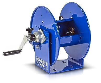 Coxreels - Carrete manual con manivela para cable de soldadura, enrollador de cable de soldadura