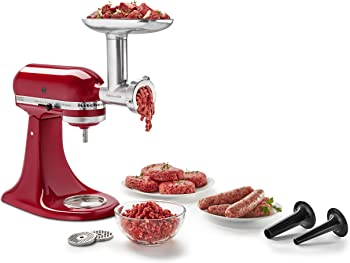 KitchenAid KSMMGA Metal 2.5 lb. Food Grinder Attachment
