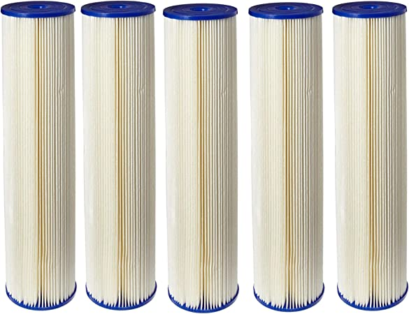 9-3//4 x 4-1//2 Pack of 4 20 Microns Pentek ECP20-BB Pleated Cellulose Polyester Filter Cartridge