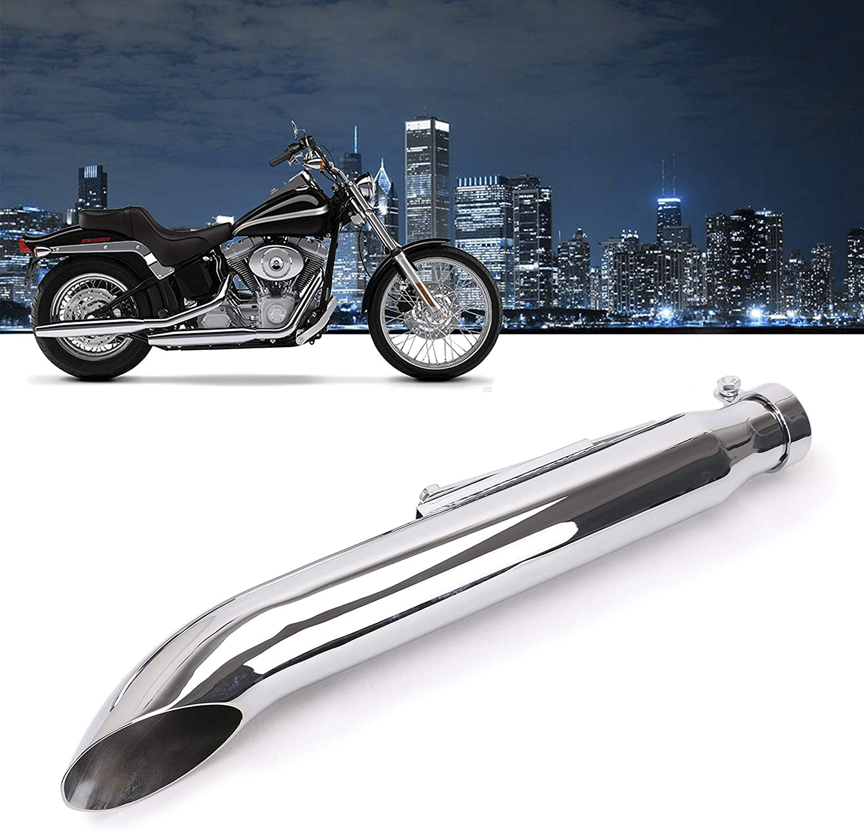 "UNIVERSAL MOTORCYCLE CHROME SILENCER MUFFLER 19/"" TURNOUT"