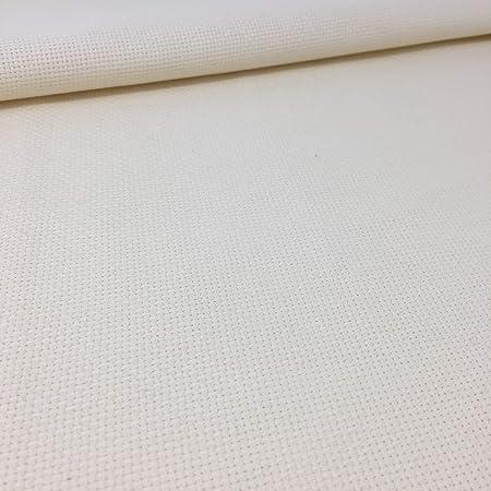 Tela para Punto de Cruz | 75cm x 50cm | 5,5 puntos/cm – 14 cuentas | 100% algodón | Elige color | de Delicatela (Beige): Amazon.es: Hogar