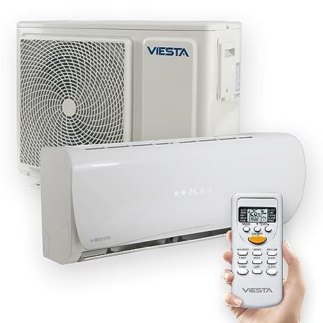 VIESTA Aire Acondicionado Split AC12 - Eficiencia energética - Temporizador - Función deshumidificador - Silencioso (