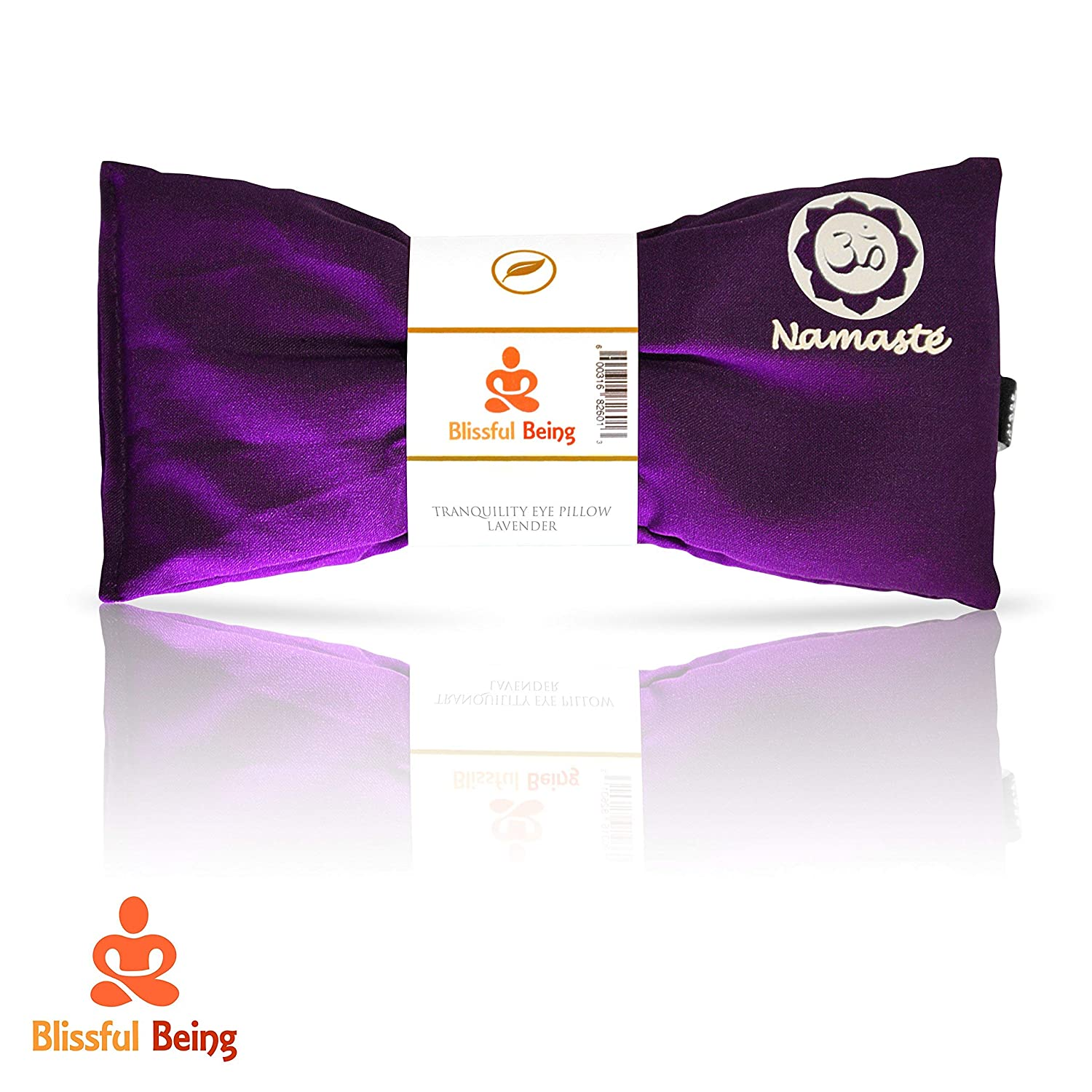 Blissful Being Namaste Yoga Eye Pillow with Lavender