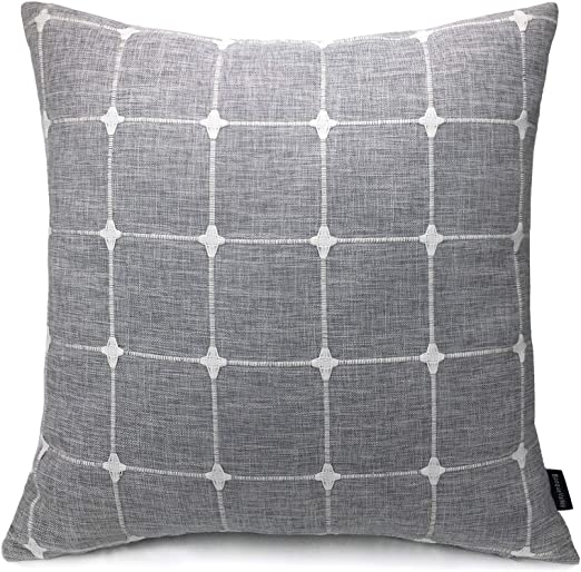 Amazon Com Booque Valley Plaid Pillow Cover 20 X 20 Inch Soft