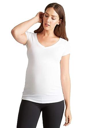 bfad3216534 Ingrid   Isabel Women s Maternity Short Sleeve V-Neck Tee at Amazon Women s  Clothing store  Fashion Maternity T Shirts