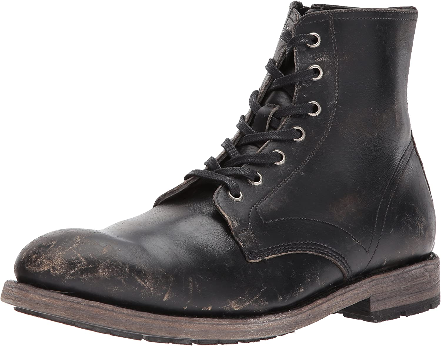 Bowery Lace Up Combat Boot, Black
