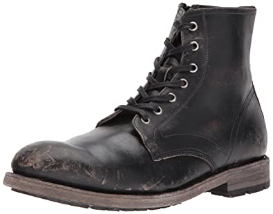 0e80d411752 FRYE Men's Bowery Lace Up Combat Boot Black 9 M