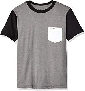 RVCA Boys Big Check Mate Short Sleeve Crew Neck Pocket-Shirt