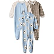 Gerber Baby Boys 3-Pack Organic Sleep 'N Play, Bear hugs, 0-3 Months