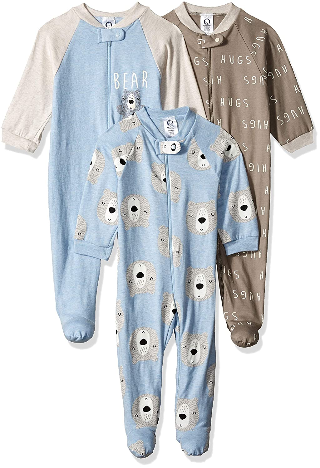 Gerber Baby Boys 3-Pack Organic Sleep N Play