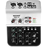 Neewer NW02-1A 4-Channel Economy Mixing Console for Condenser Microphone, Compact Audio Sound Mixer with 48V Phantom…