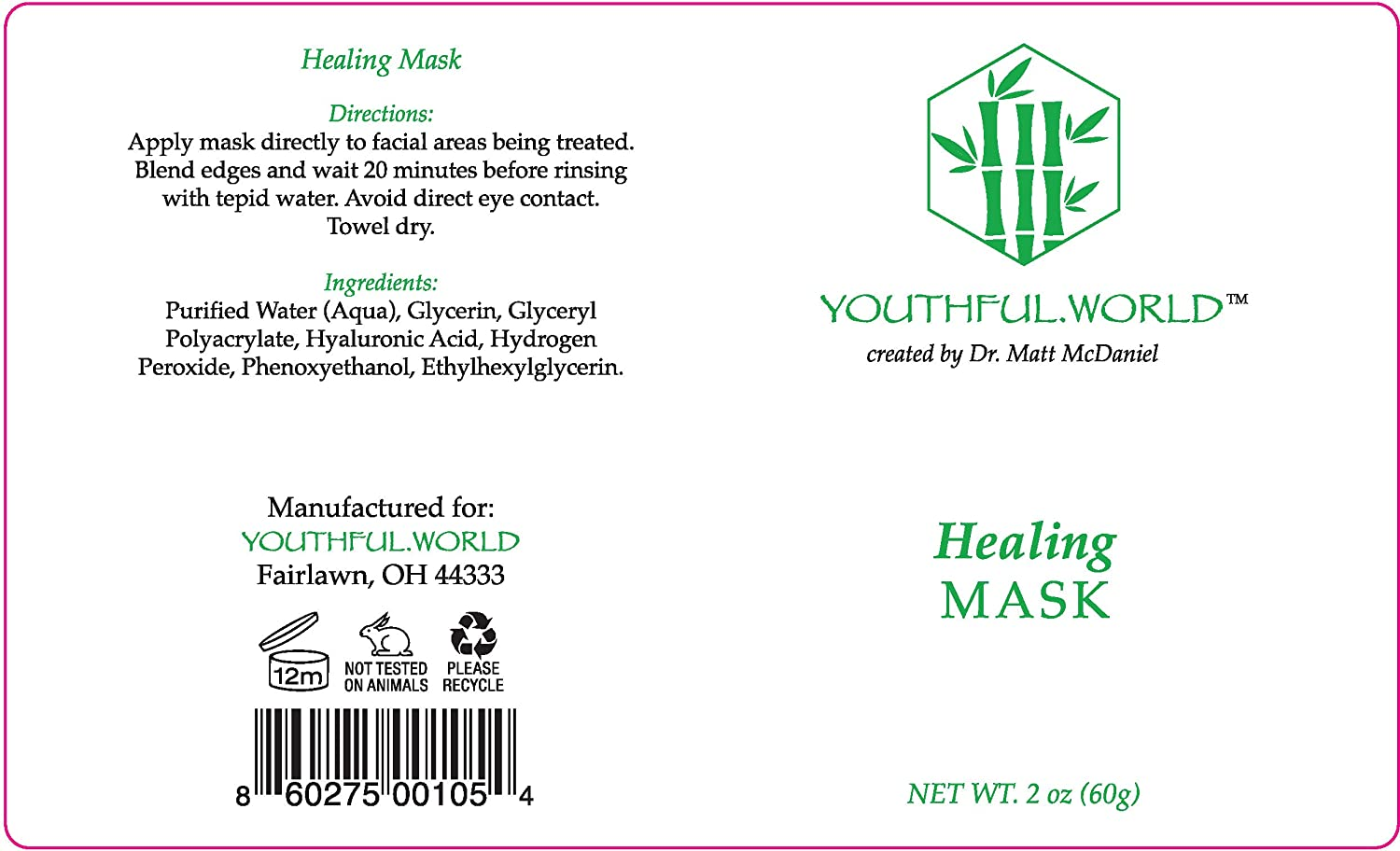 YOUTHFUL.WORLD Corrective Healing Mask, Healing and Prevention for a Healthy Complexion