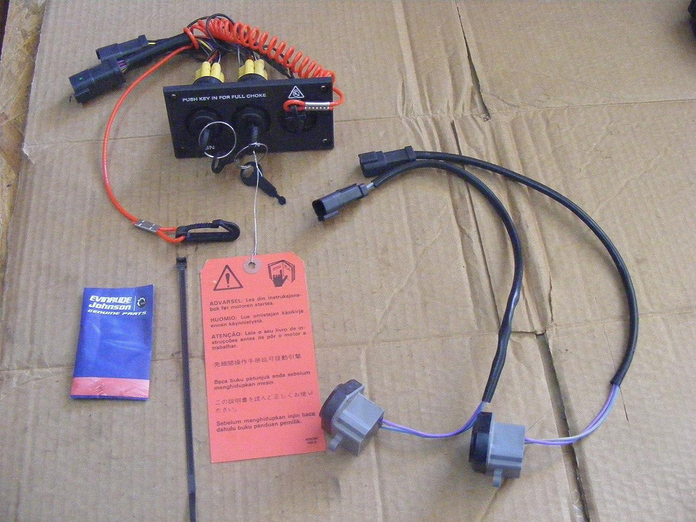OEM BRP Johnson Evinrude Dual Engine Key Switch Kit 176410