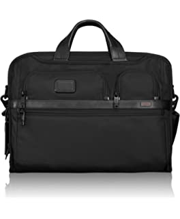 TUMI - Alpha 2 Compact Large Screen Laptop Brief Briefcase - 17 Inch  Computer Bag for 15fc74f1ad