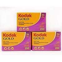 3 x Kodak Gold 200 ISO 36 opnames 35 mm spoel kleur