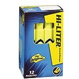 HI-LITER Desk Style, Fluorescent Yellow, Box of 12 (24000)