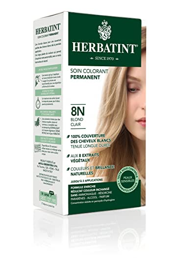 Amazon.com: Herbatint Permanent Herbal Hair Color Gel, 8N Light ...