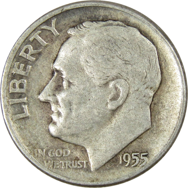 1955 P//D//S Roosevelt Dimes GEM BU Lustrous Silver C 10