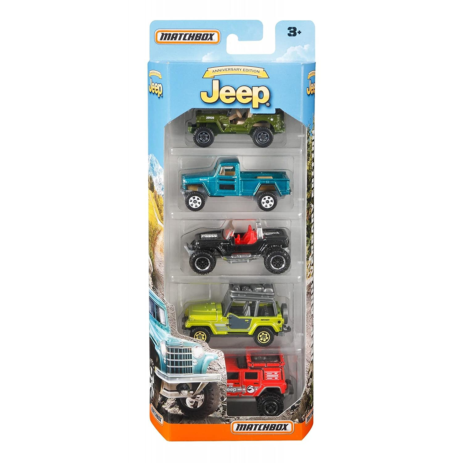 Matchbox Anniversary Edition Jeep 5-Pack MATTEL