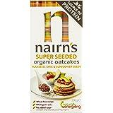 Nairns Super Seeded Organic Oatcake 200 g (Pack of 8)