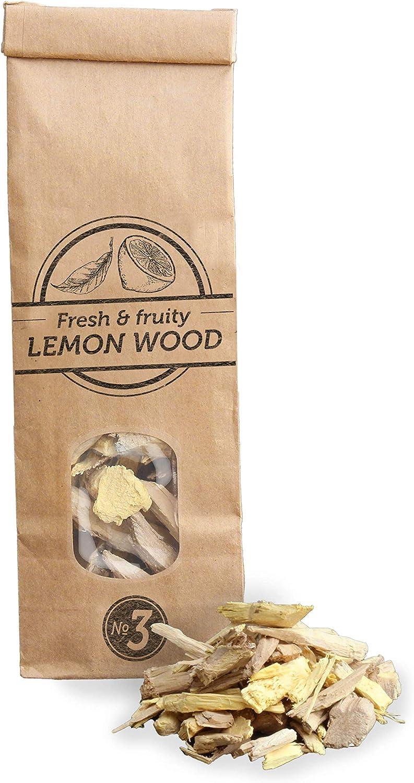 Smokey Olive Wood 500mL, virutas de Madera de limonero para Barbacoa y ahumador. Talla 2-3cm