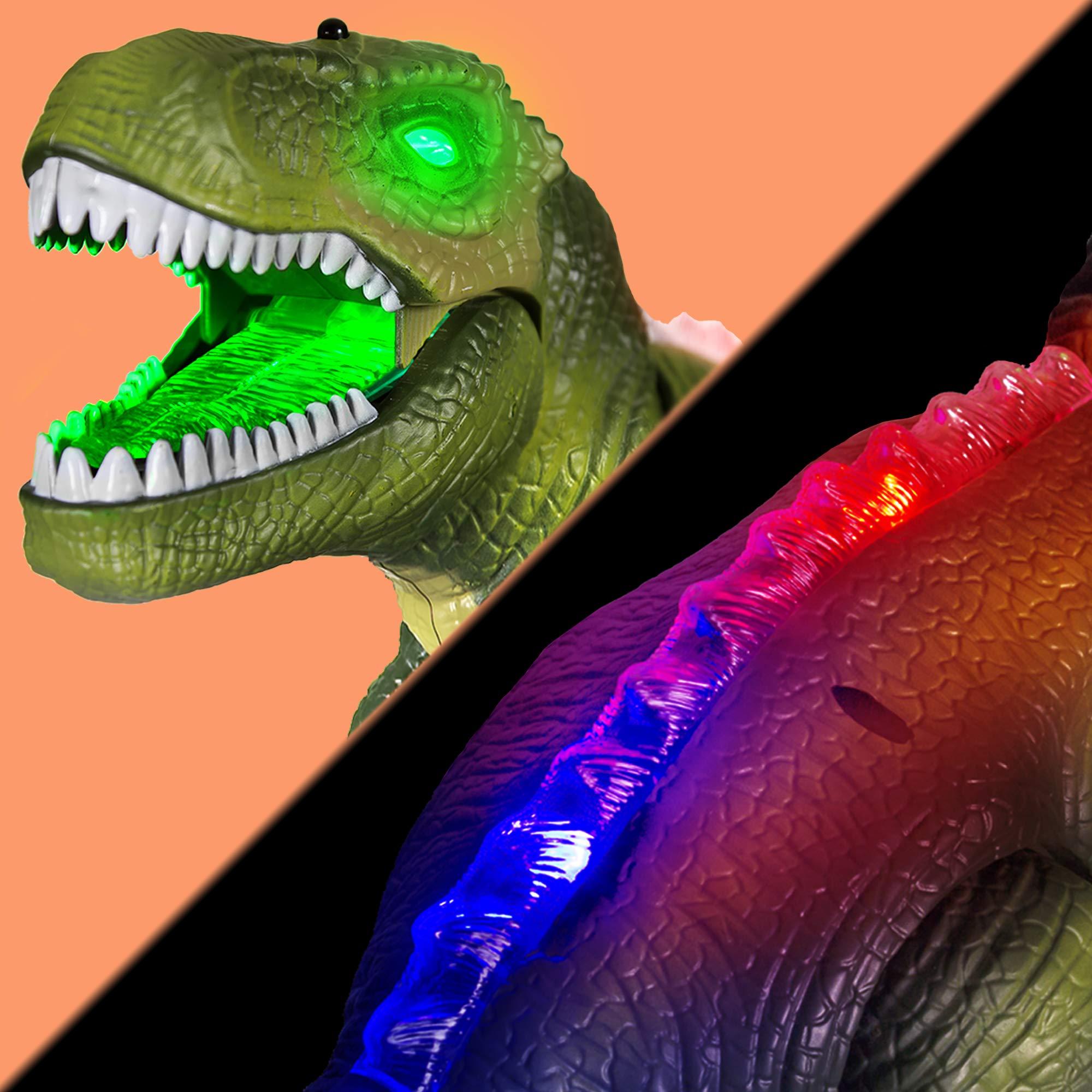 Windy City Novelties Led Light-Up Walking & Roaring T-Rex Dinosaur Toys for Boys & Girls (T-Rex with Remote) by Windy City Novelties (Image #3)