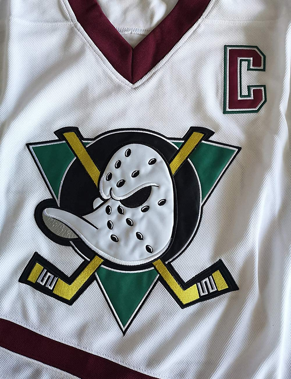 Charlie Conway Mighty Ducks Jersey 96 Movie Ice Hockey Jerseys Stitched White S-XXXL