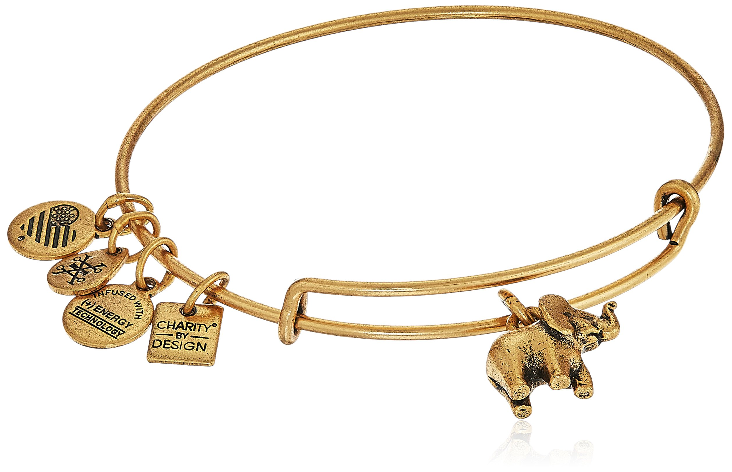 Alex and Ani Charity By Design, Elephant II Rafaelian Gold Bangle Bracelet