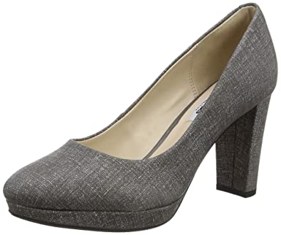 412fc96795be15 CLARKS Kendra Sienna - Grey Interest (Leather) Womens Heels 6.5 US