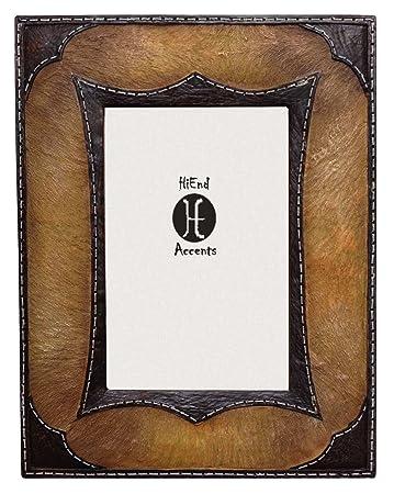 Amazon.com - HiEnd Accents Cowhide Western Frame, 4 x 6 -