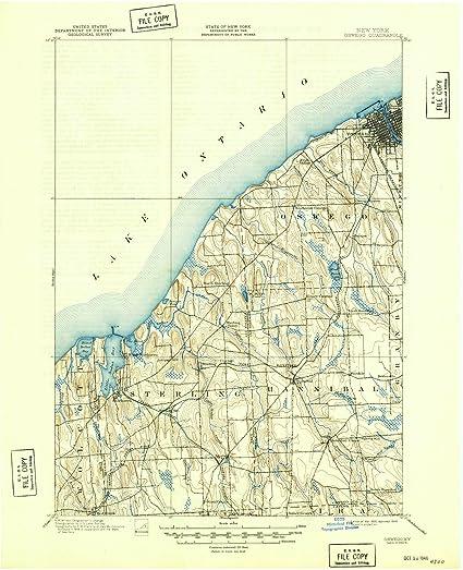 Map Of New York Oswego.Amazon Com Historic Map Oswego New York Ny 1900 Usgs