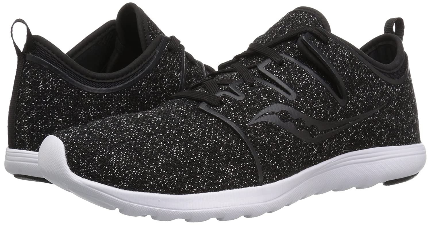 Saucony Women's Eros Lace Sneaker B0785L6X31 11 M US|Black/Speckled