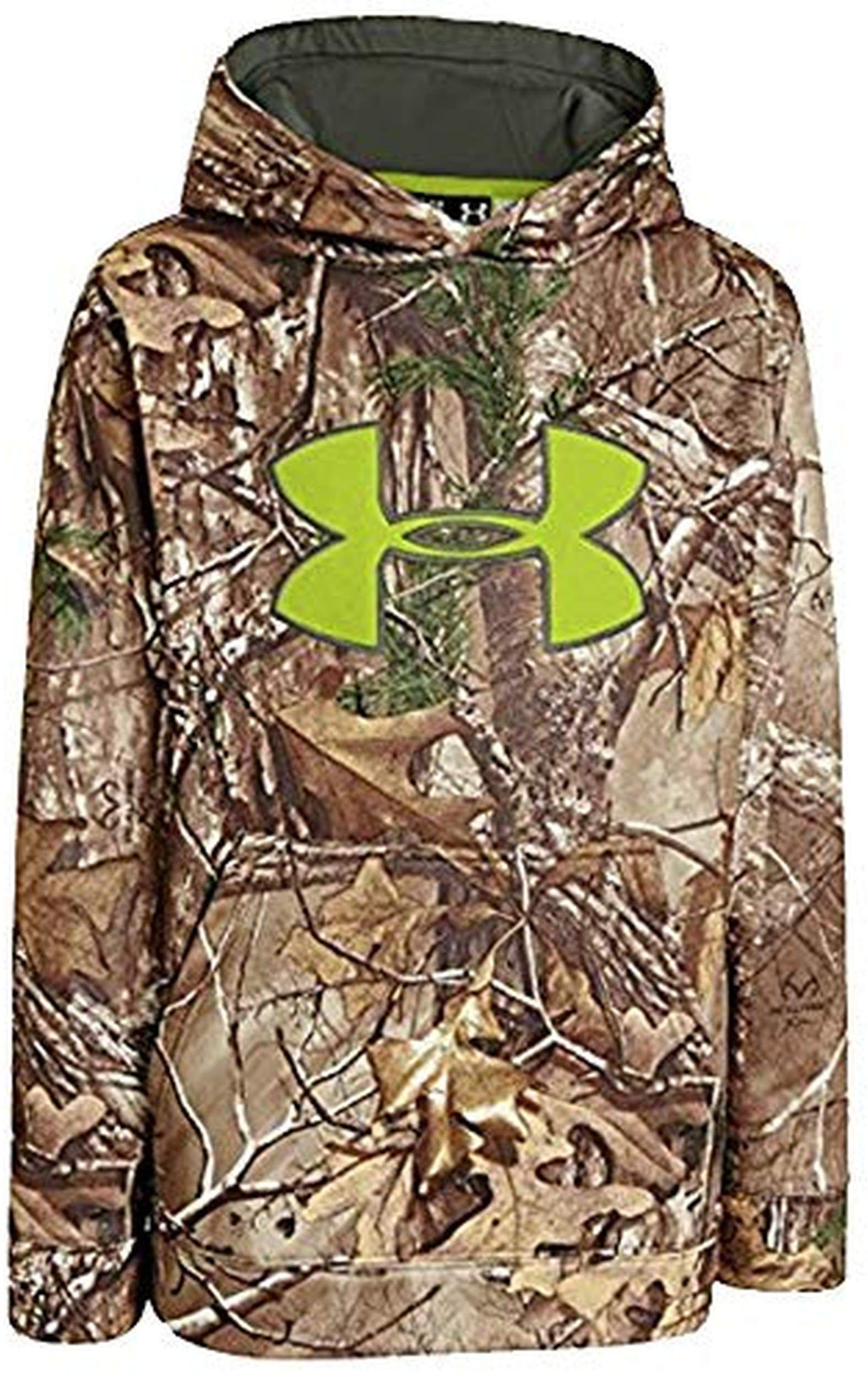 Under Armour Big Boys' Armour Fleece Scent Control Hoodie Youth X-Large REALTREE AP-XTRA by Under Armour