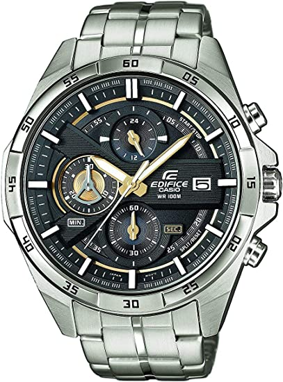 Orologio casio edifice , robusta cassa, 10 bar, dorato/nero EFR-556D-1AVUEF