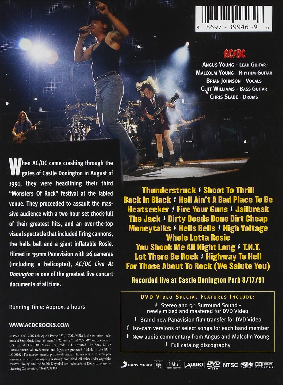 Live At Donington [USA] [DVD]: Amazon.es: Ac/Dc, Ac/Dc: Cine y ...