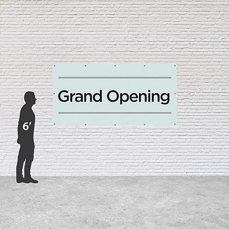 CGSignLab 8x4 Basic Teal Heavy-Duty Outdoor Vinyl Banner Grand Opening