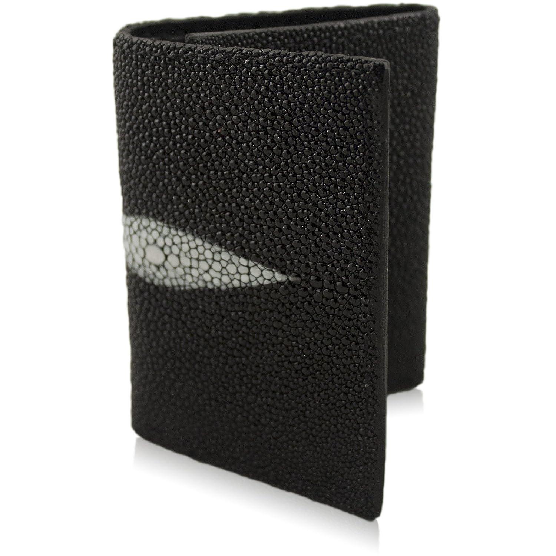 Genuine Stingray Skin Trifold 9 Card Leather Handmade Wallet