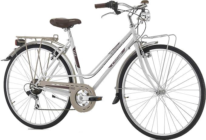 Bicicleta Cicli Cinzia Club para mujer, cuadro de acero, 6 ...