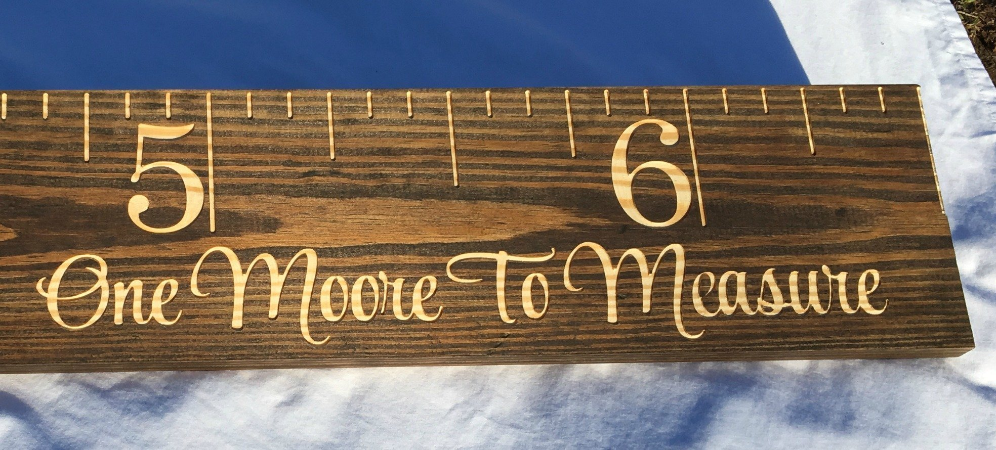 Carved Wooden Growth Chart Ruler by FultonCraft