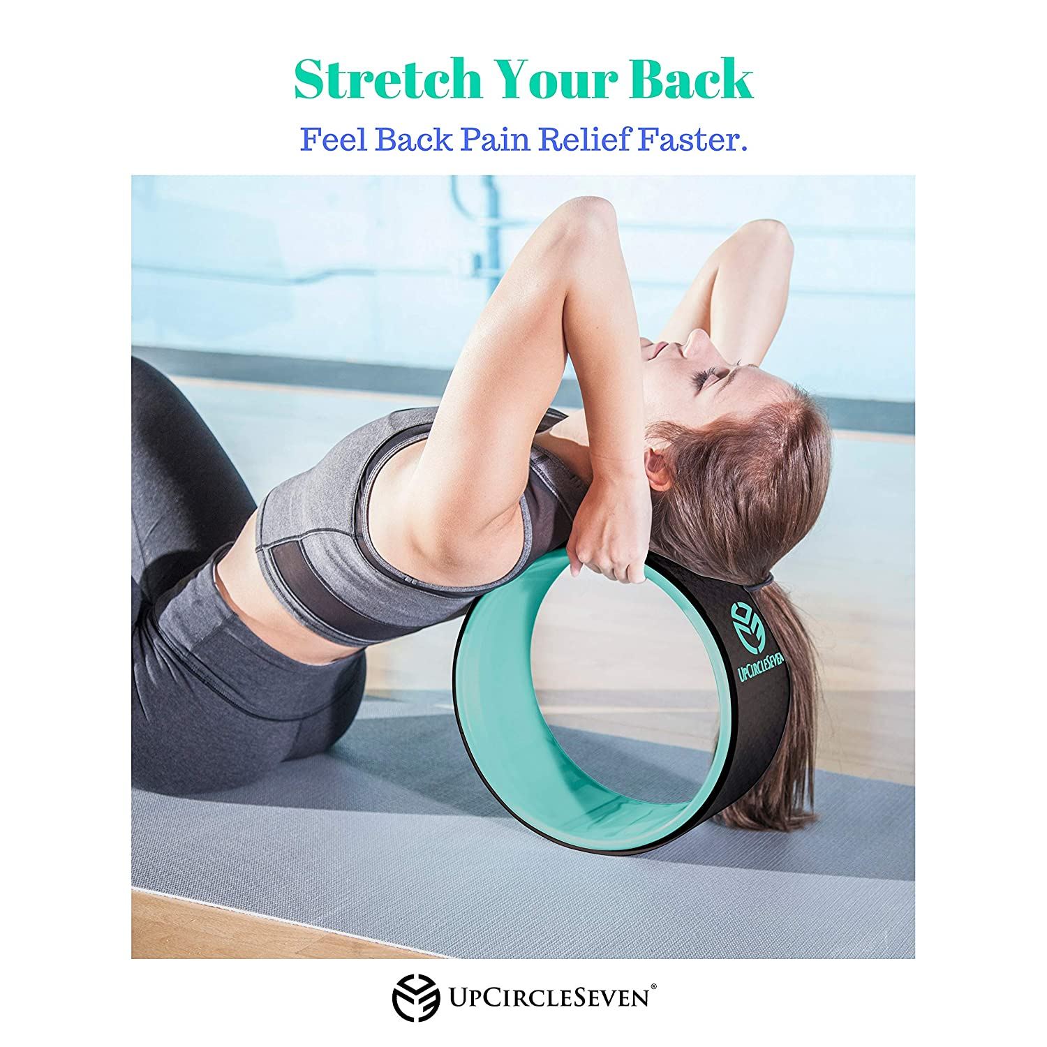 3 Pack Yoga Wheel Set for Back Pain Relief /& Stretching Exercice Prop Circle